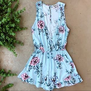 Show Me Your MuMu Pants - Show Me Your Mumu SMYM Blue Floral Riri Romper